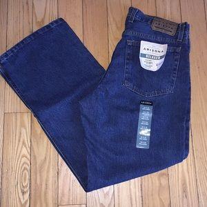 Arizona Relaxed Jeans 34 x 32 Dark Stonewash NWT